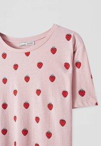 PULL&BEAR - Print T-shirt - pink - 4
