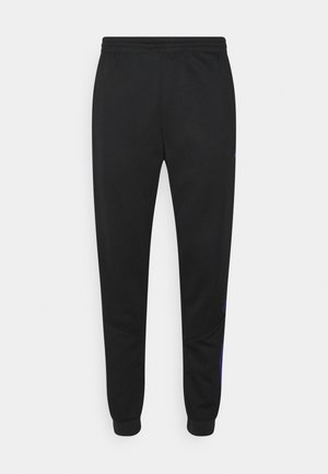 BLOCKED - Tracksuit bottoms - black/sonic ink/victory blue