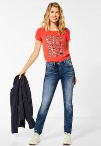 Cecil - DENIM MIT KORDEL-GALON - Slim fit jeans - blau - 1