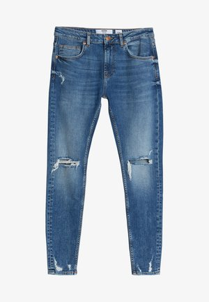 MIT RISSEN - Slim fit jeans - blue