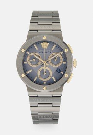 GRECA LOGO  - Zegarek chronograficzny - gunmetal