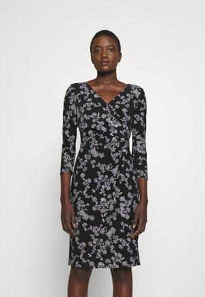 CLEORA LONG SLEEVE DAY DRESS - Jersey dress - black/colonial cream