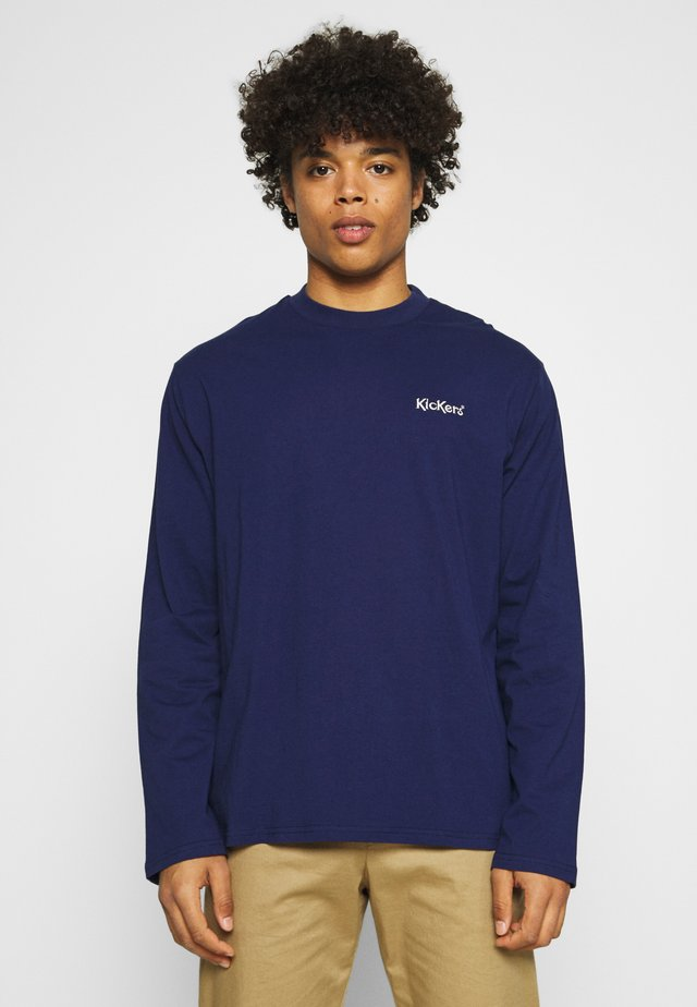 WITH CONTRAST EMBROIDERED LOGO - Longsleeve - patriot blue
