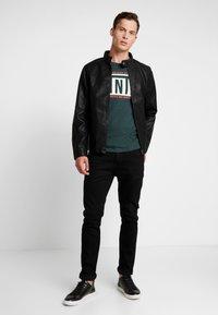 TOM TAILOR DENIM - BIKER - Faux leather jacket - black - 1