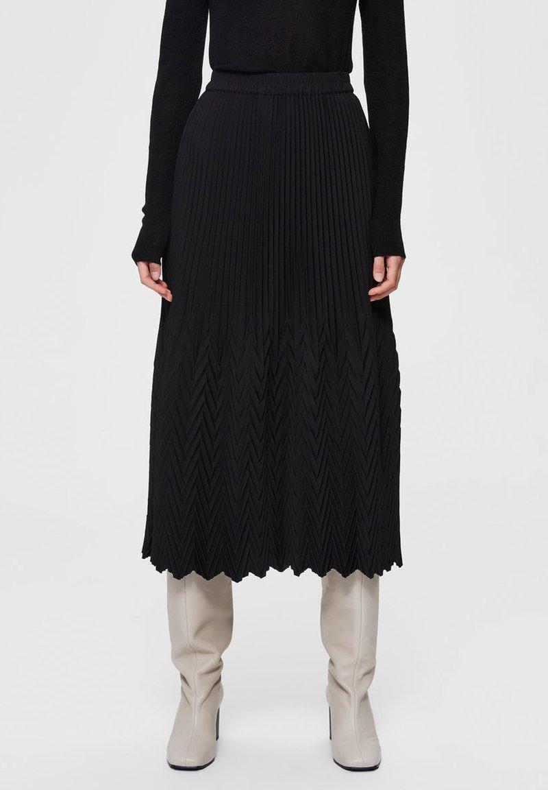 Selected Femme - A-line skirt - black