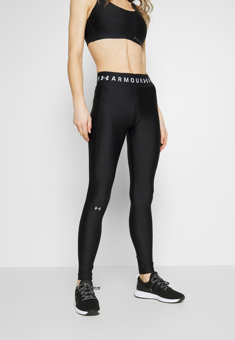 Under Armour - LEGGING BRANDED - Collants - black/white/metallic silver