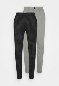 black/medium grey melange