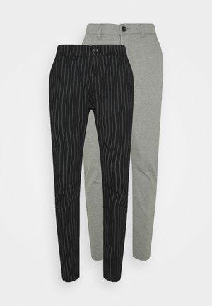 PONTE PANT 2 PACK - Kangashousut - black/medium grey melange
