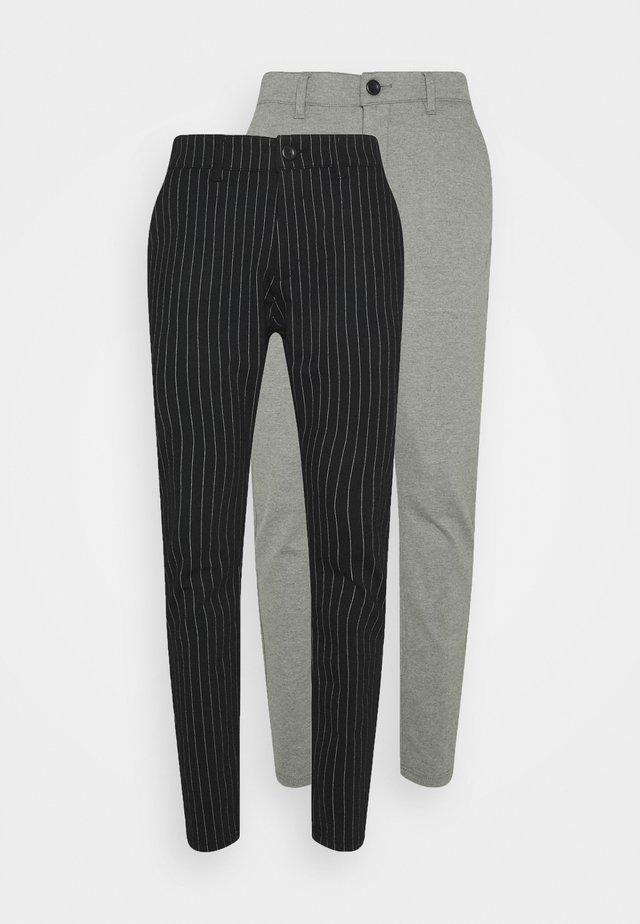 PONTE PANT 2 PACK - Trousers - black/medium grey melange