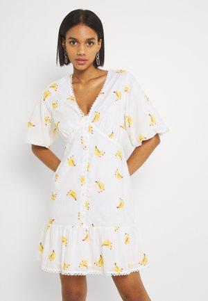 BANANA MINI DRESS - Day dress - white