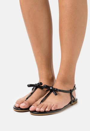 PIAZZA - T-bar sandals - black