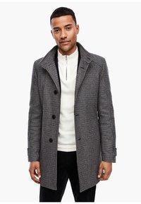 s.Oliver BLACK LABEL - Classic coat - dark blue check - 0
