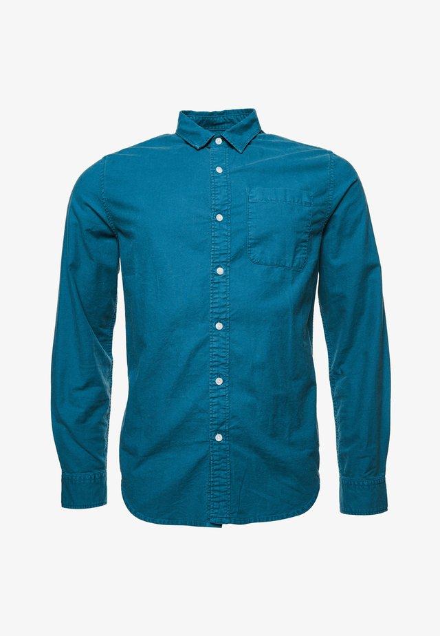 LINE DRIED OXFORD - Shirt - teal