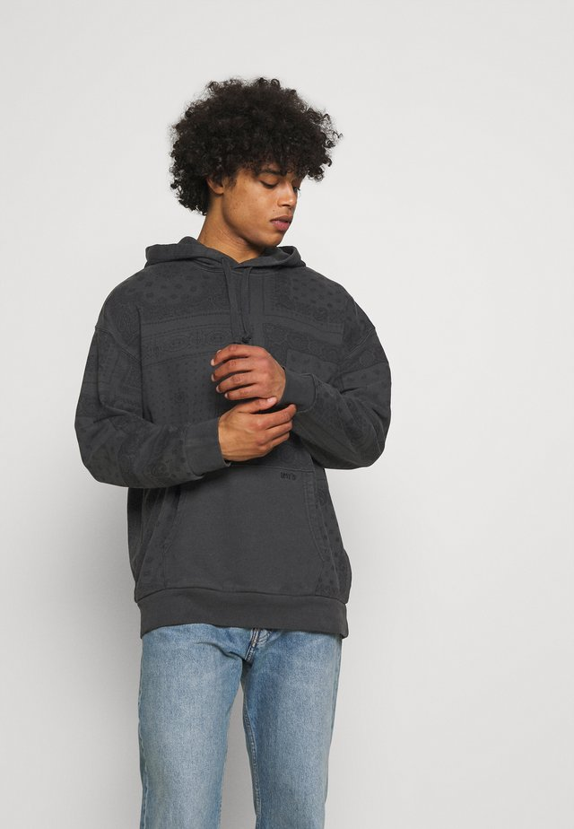 BANDANA POP OVER HOODIE UNISEX - Sweatshirt - blacks