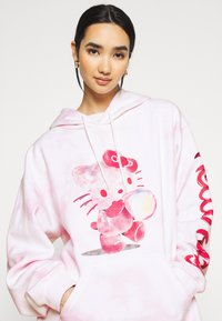 NEW girl ORDER - HELLO BUBBLE TIE DYE HOODIE - Sweatshirt - pink - 3