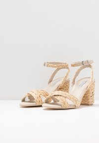 Nly by Nelly - BRAIDED BLOCK HEEL  - High heeled sandals - natural