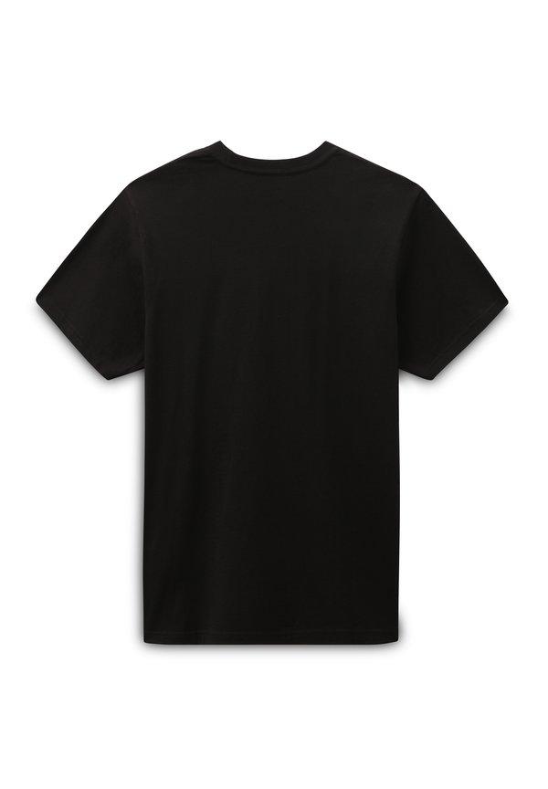 Vans NEW VARSITY - T-shirt z nadrukiem - black/czarny Odzież Męska TPFK