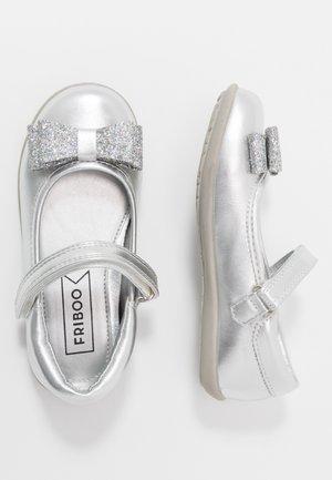 Ballerina's met enkelbandjes - silver