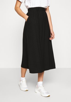 OBJCELIA LONG SKIRT - A-line skirt - black