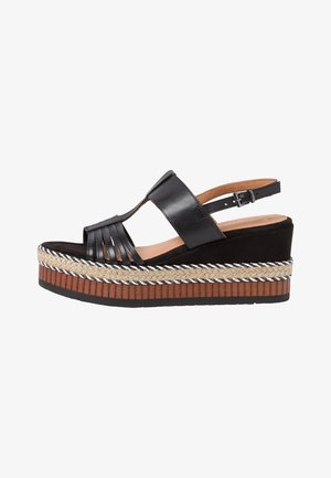 Platform sandals - black antic