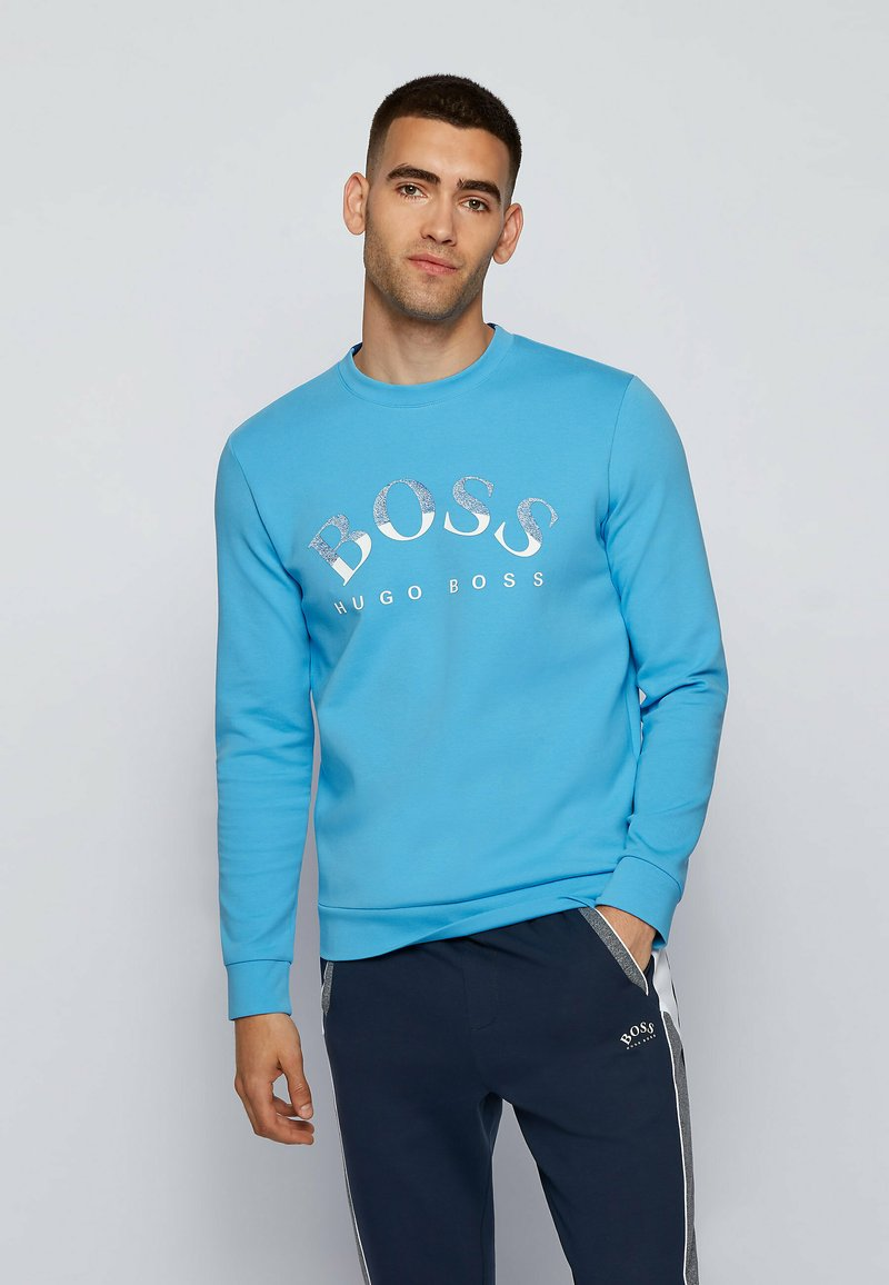 BOSS - SALBO  - Sweatshirt - open blue