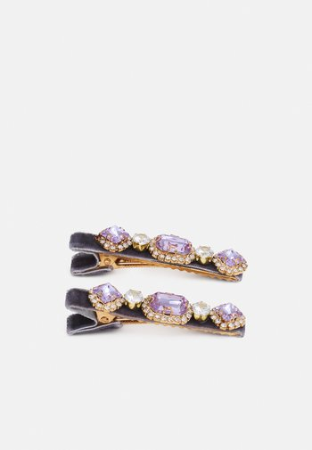PCHONESTI HAIRCLIP 2 PACK - Hair styling accessory - sheer lilac/gold-coloured/clear