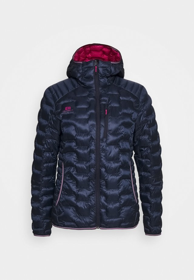 WOMENS MOTION HOOD - Skijakker - dark blue