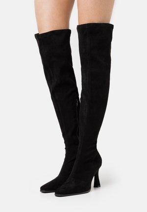 FEATURE BOOT - Kozačky na vysokém podpatku - black