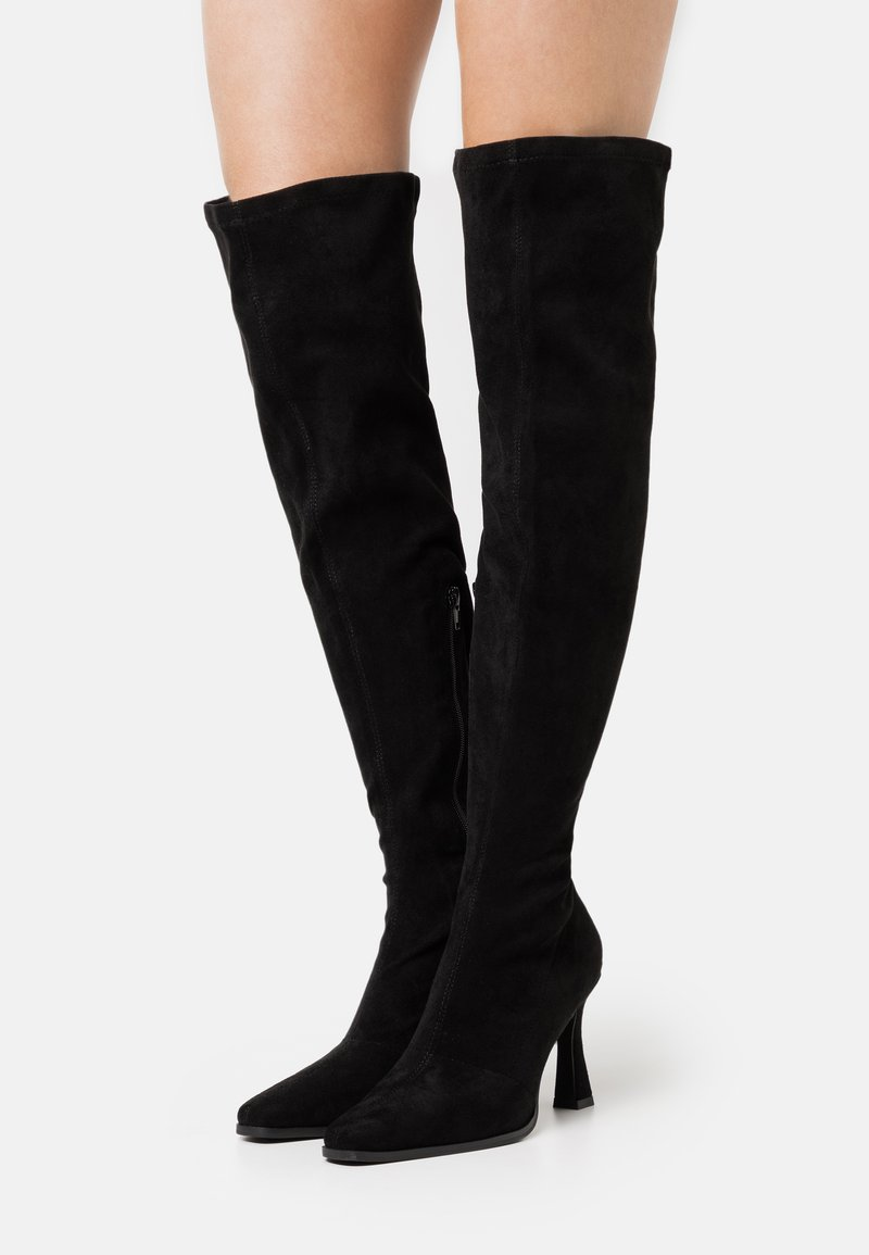 Missguided - FEATURE BOOT - High heeled boots - black