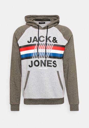 JJMOUNTAIN HOOD - Sweatshirt - light grey melange