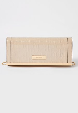 BEIGE RI EMBOSSED CLUTCH BAG - Clutch - cream