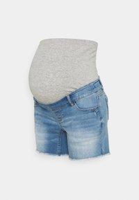 MAMALICIOUS - MLMARTINE BUMPBAND SLIM - Denim shorts - light blue denim - 0