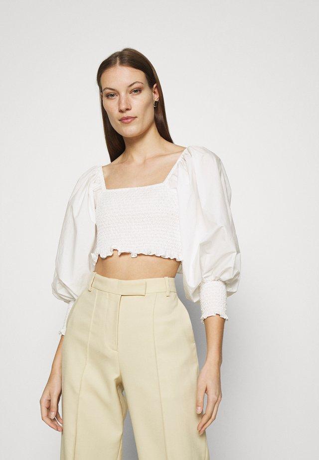 SMOCKED - Blouse - off-white