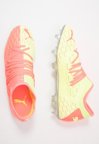 Puma - FUTURE 5.3 NETFIT OSG FG/AG - Moulded stud football boots - energy peach/fizzy yellow - 1