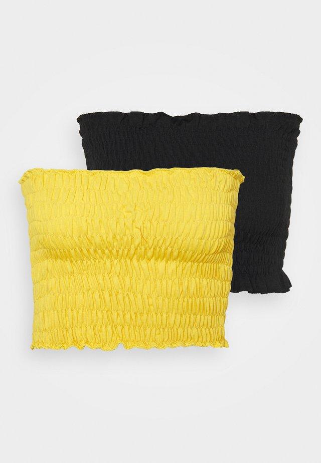 SHEARED BANDEAU 2 PACK  - Top - black/mustard