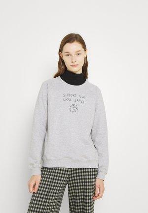 YSTAD RAGLAN LOCAL PLANET - Sweatshirt - grey melange