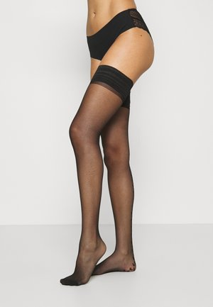 HEART BACK HOLD UP - Overknee-strømper - black