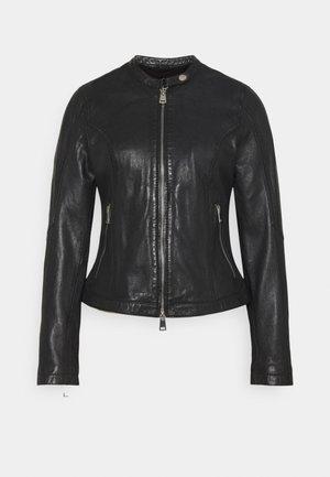 NEW TULA - Leather jacket - black
