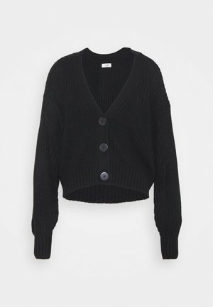 JDYNOLA JUSTY  CARDIGAN HEAVY KNIT - Cardigan - black