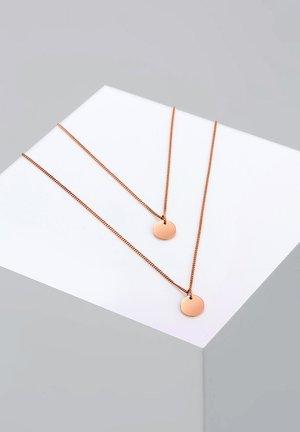 LAYERING PLÄTTCHEN - Necklace - roségoldfarben