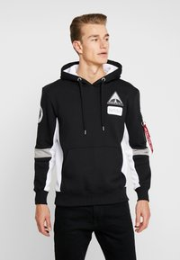 Alpha Industries - SPACE CAMP HOODY - Hoodie - black - 0
