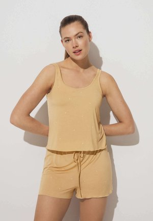 DITSY DOT - Pyjama bottoms - yellow