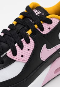 Nike Sportswear - AIR MAX 90 LTR GS - Sneakers laag - black/light arctic pink/white/dark sulfur - 5
