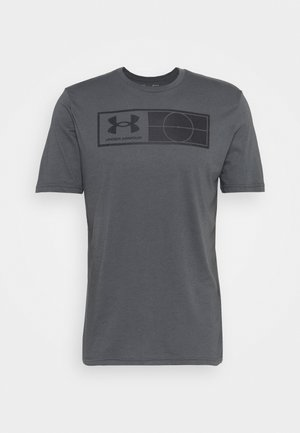 TAG TEE - Print T-shirt - pitch gray