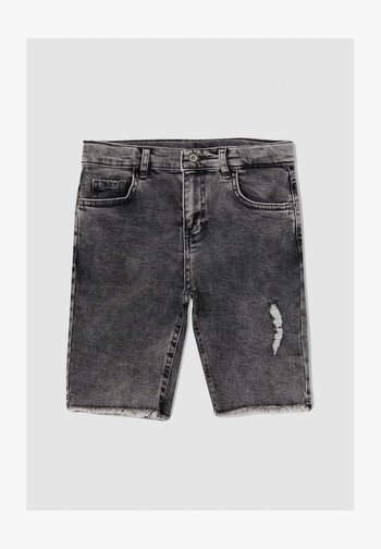 REGULAR FIT  - Jeansshorts - grey