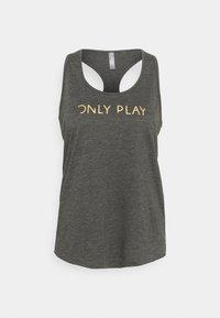 ONLY Play - ONPMOE TANK - Top - dark grey melange/gold - 3