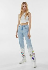 Bershka - Straight leg jeans - light blue - 1