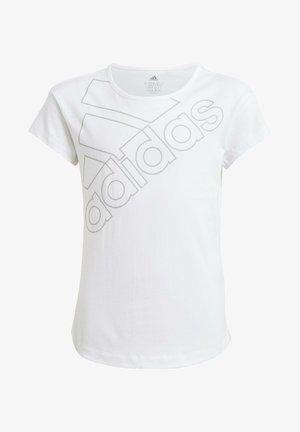 ADIDAS ESSENTIALS LOGO T-SHIRT - Print T-shirt - white