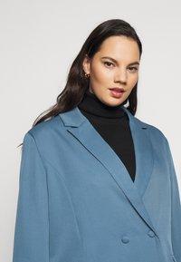 Missguided Plus - GRANDAD SIDE SPLIT  - Short coat - blue - 3
