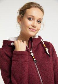 Schmuddelwedda - Fleece jacket - bordeaux melange - 3